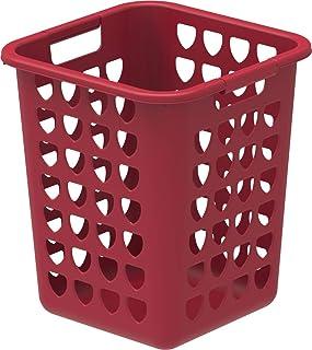 Cosmoplast Plastic Square Laundry Bin 33L, Dark Red, IFHHLA372DR