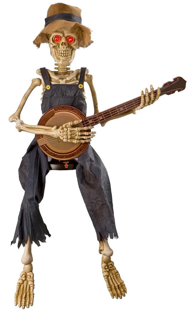 若さ異なるアイザックAnimated Banjo Playing Skeleton スケルトンを再生するアニメーションバンジョーは「?ハロウィン?クリスマス?