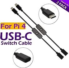 iUniker Raspberry Pi Power Switch, Raspberry Pi 4 Power Switch Power Supply Cable USB C Power Switch Type-C Power Switch for Raspberry Pi 4 (2-Pack)