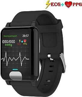 Fitness Tracker HR, Color Screen Heart Rate Monitor Watch, ECG&PPG Smart Activity Tracker Watch, IP67 Waterproof, Step Calorie Counter, Sleep Monitor, Pedometer Watch for Women Men Kids