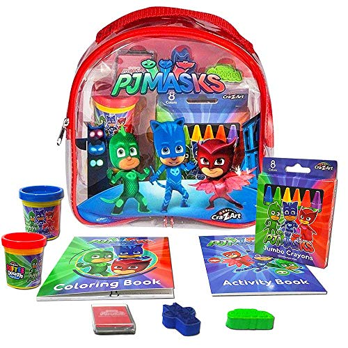 PJ Masks パジャマスクリュックサック Coloring and Activity Backpack アートセット (ぬりえ クレヨン スタンプ ペン 文房具) 23cm [並行輸入品]