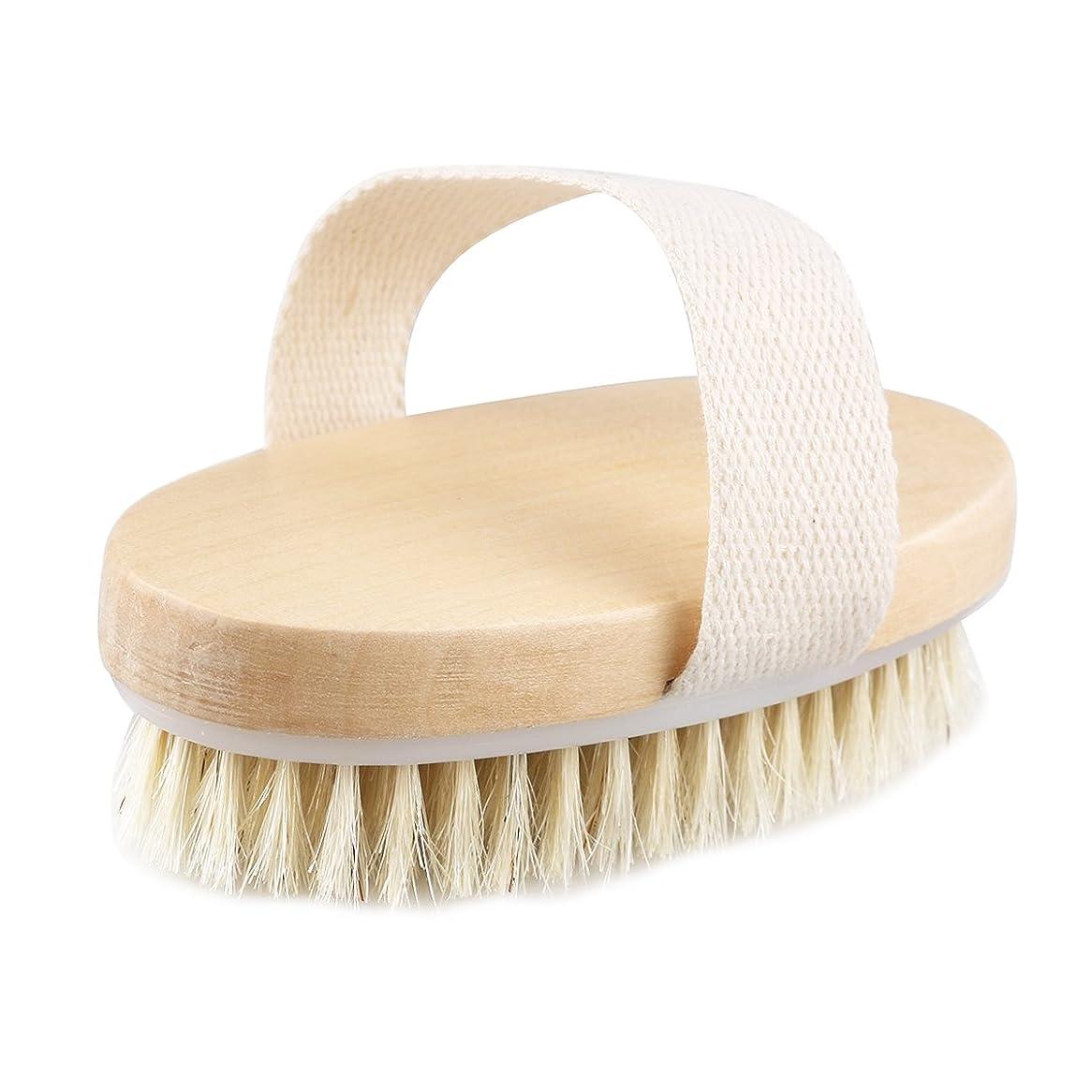 必要とするにじみ出る王族TOPBATHY 木の浴室のシャワーの剛毛のブラシのハンドルなしのボディブラシ