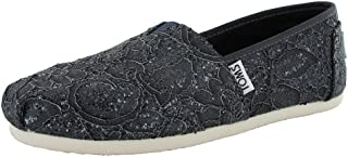 Shoes Women's Lace Glitz Slip On Alpargata Flat Shoes