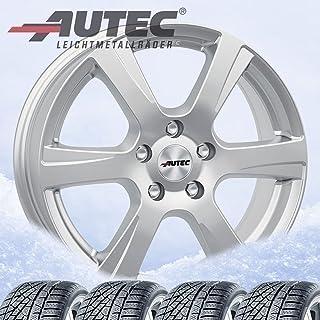 4 winterbanden Polaric 7,5x18 ET 45 5x108 briljant zilver met 235/45 R18 98V Continental WinterContact TS 870 P XL FR