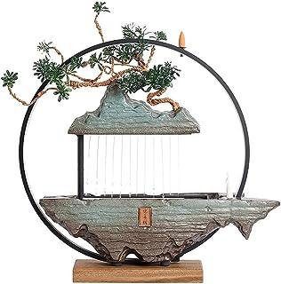 ZLBYB Creative Water Fountain Fountain Landscape Lucky Living Room Office Home Desktop Zen Ornaments Opened