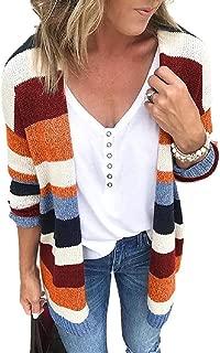 Howely Womens Cardigan Fall Winter Pinstripe Wrap Coat Knit Cardigan