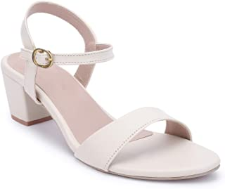Bella Toes Women's/Ladies/Female's/Girl Synthetic Leather Casual Cream Sandal-904