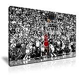 Michael Jordan el ganador foto lienzo de pared Moderno Arte 76x 50cm
