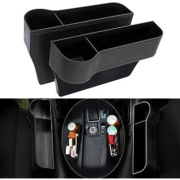 Heart Horse Car Seat Gap Organiser Car Seat Side Pocket PU Leather Catcher Car Seat Organiser with Cup Holder Car Organizer Storage Box Universal Seat Storage Gap Filler 2 Pack