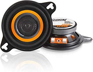 """Car Two Way Speaker System - Pro 3.5 Inch 120 Watt 4 Ohm Mid Tweeter Woofer Component Audio Sound Speakers For Car Stereo w/ 20 Oz Magnet Structure, 2.125"""" Mount Depth Fits Standard OEM - Legacy LS328"""