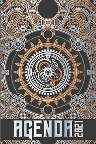 Agenda 2021: Agenda Semainier 2021 Janvier à Décembre Illustré Planificateur Annuel Mensuel Semainier Personnalisable Calendrier Planner Mécanisme ... Journal Masculin Idée Cadeau Noël Homme Femme