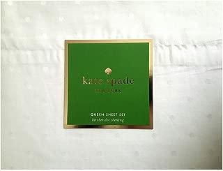 Kate Spade Larabee Dot Queen Sheet Set 4 pcs, White