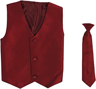 Vest and Clip On Necktie Set-Multiple Colors-Baby Infant Toddler Boys Sizes