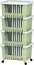 Cosmoplast 4 Drawer Multipurpose Storage Rack - Light Green