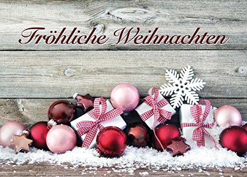 10 kerstkaarten, kerstkaarten, wenskaarten, Kerstmis, 10 dezelfde ansichtkaarten in set, formaat DIN A6