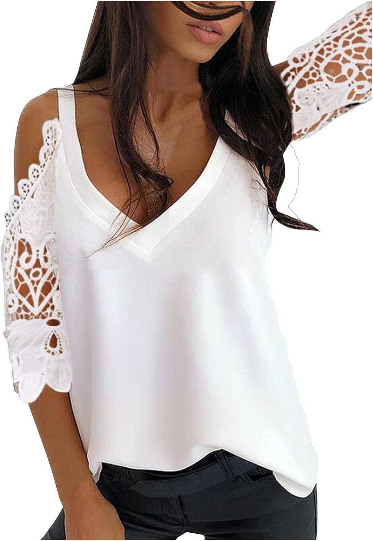 VEMOW Camisetas Manga Corta Mujer Verano Blusas y Camisas Elegantes Última Moda T-Shirt con Hombros Descubiertos Cuello Redondo de Tops con Estampado de Leopardo Tallas Grandes Polos Tshirt