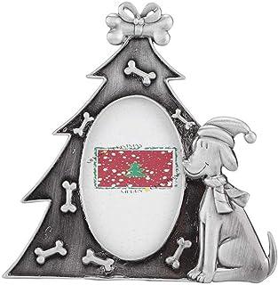 WNGGADH Cadre photo en forme de sapin de Noël pour chien - Pour portrait vertical - 1 pièce