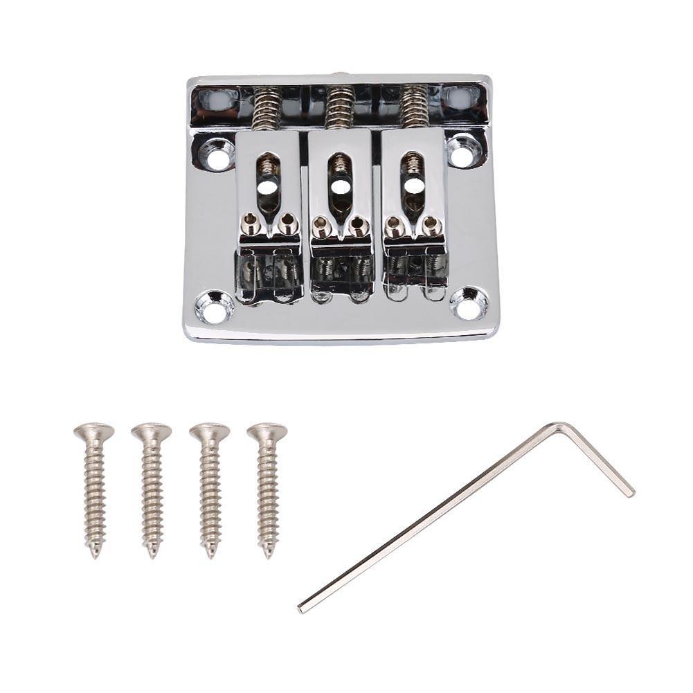 Puente de guitarra eléctrica, parte superior de carga, duradero, 3 ...