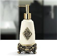 Zeeppomp Europese gebeeldhouwde Patroon Ceramic navulbare dispenser for vloeibare zeep Fles van de Pomp for Badkamer Vanit...