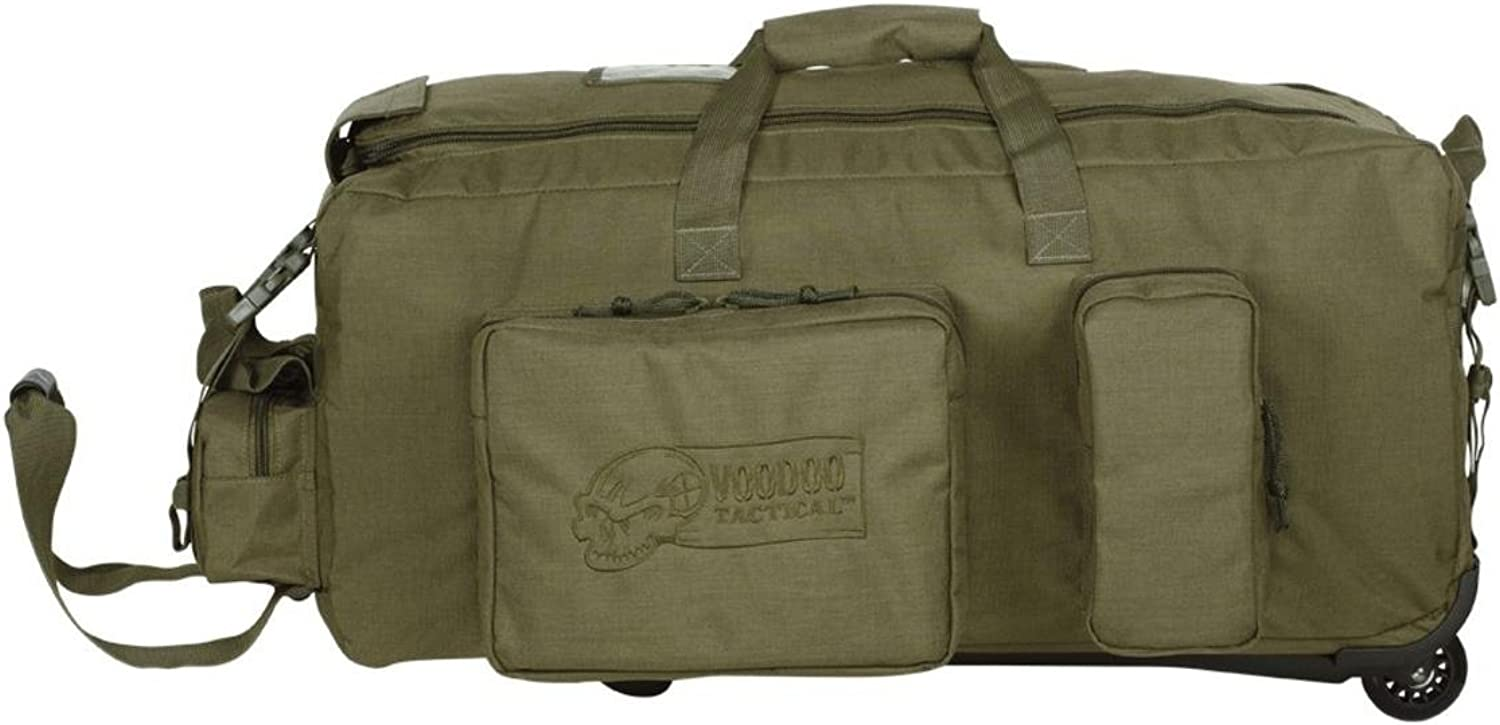 VooDoo Tactical 15-9687004000 Mini Mojo Load-Out Bag on Wheels, Olive Drab