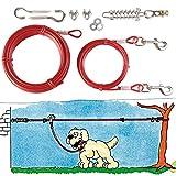 Trixie 2293 2 Cables Plastificados, Muelle, Extra, 15 M, Rojo