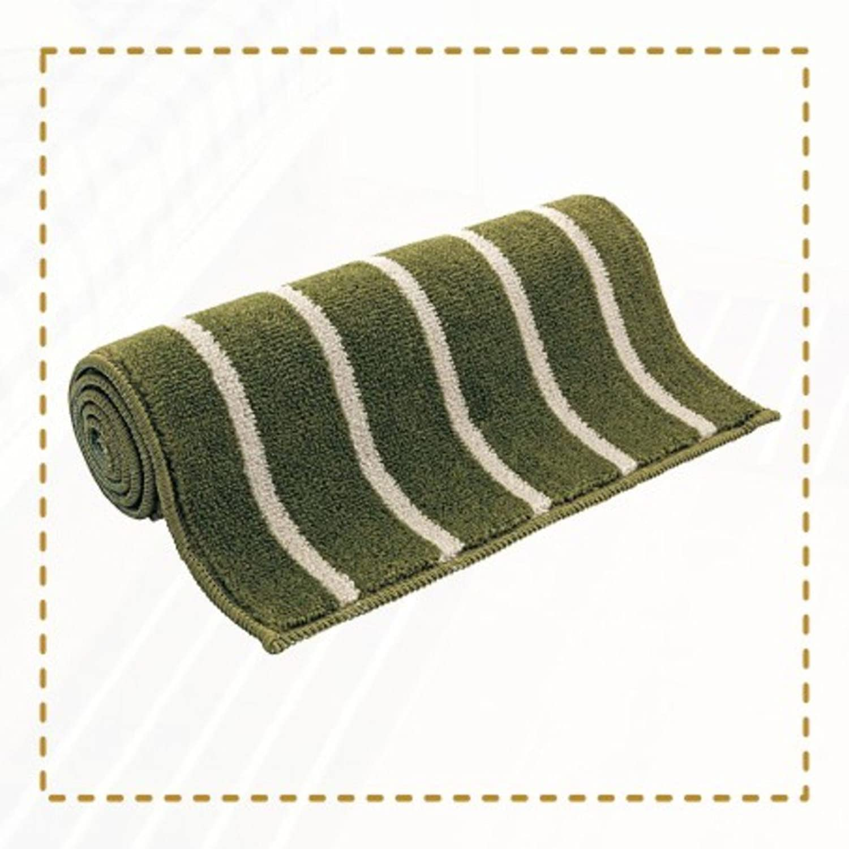 Cotton kitchen strip oil-proof mat Bedroom Bedside door mat Bathroom door [hall] Living room water absorbent non-slip foot mat-C 65x120cm(26x47inch)
