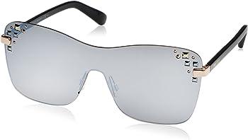 Jimmy Choo MASK/S Grey Mirror Rectangular Women's Sunglasses