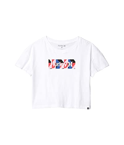 Hurley One Only Geo Flouncy Tee (White) Women