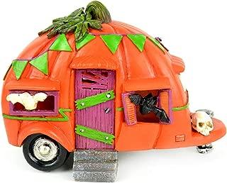 Halloween Miniature Fairy Garden LED Fall Pumpkin Camper Trailer