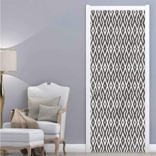 Modern,3D Door Wallpaper Geometric Antique Border Removable Vinyl W38.5xH79
