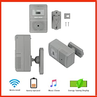 People Visitor Counter with Music Visitor Chime Function Wireless, 36 Changeable Rintone Customer Counter for Retail Store