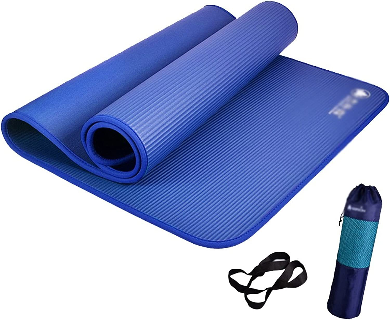 Dance & Gymnastics Mats Exercise Mats Yoga mat Thickened Widened Fitness Camping Exercise mat NonSlip Wrapped Edge Section 72.8  31.5  0.4in (color   blueee, Size   185cm80cm10mm)
