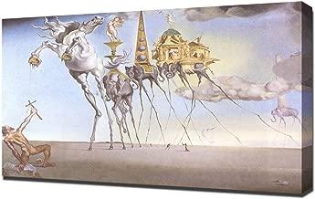 Lilarama Salvador Dali The Temptation of St Anthony Framed Canvas Art Print Reproduction