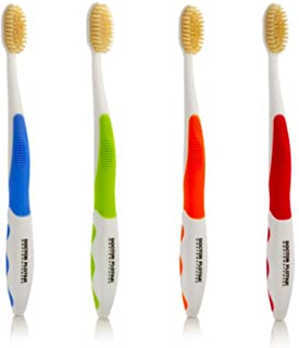 Best Mouthwatchers Antimicrobial Floss Bristle Silver Toothbrush, Adult, 4 Pack Review