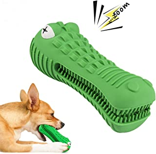 Dog Chew Toy Tough Dog Toys for Aggressive Chewers Large Breed Dog Toothbrush Toys for Medium Dogs Indestructible Durable Squeaky Bristly Brushing Stick Teething Chew Toys Teeth Cleaning Dental Care