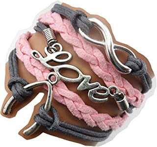 Ac Union Handmade Cute Infinity Tortoise Angel Wings Owl Butterfly Anchor Brids Heart Best Friend Charm Friendship Gift Leather Bracelet