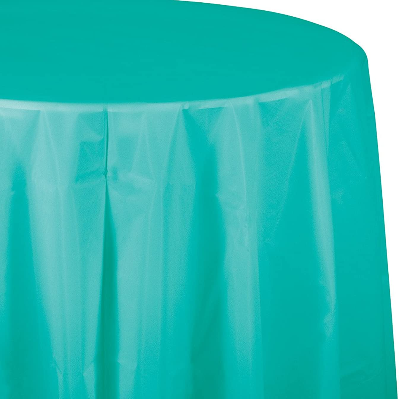 Creative Converting 324791 Touch of Color 12 Count Octy-Round Paper Table Covers, Teal Lagoon