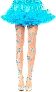 blue and white snowflake leggings