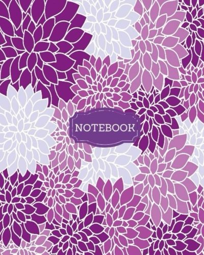 Notebook: Purple Flowers Composition Notebook 8x10; Journal; 120 Pages (Notebooks)