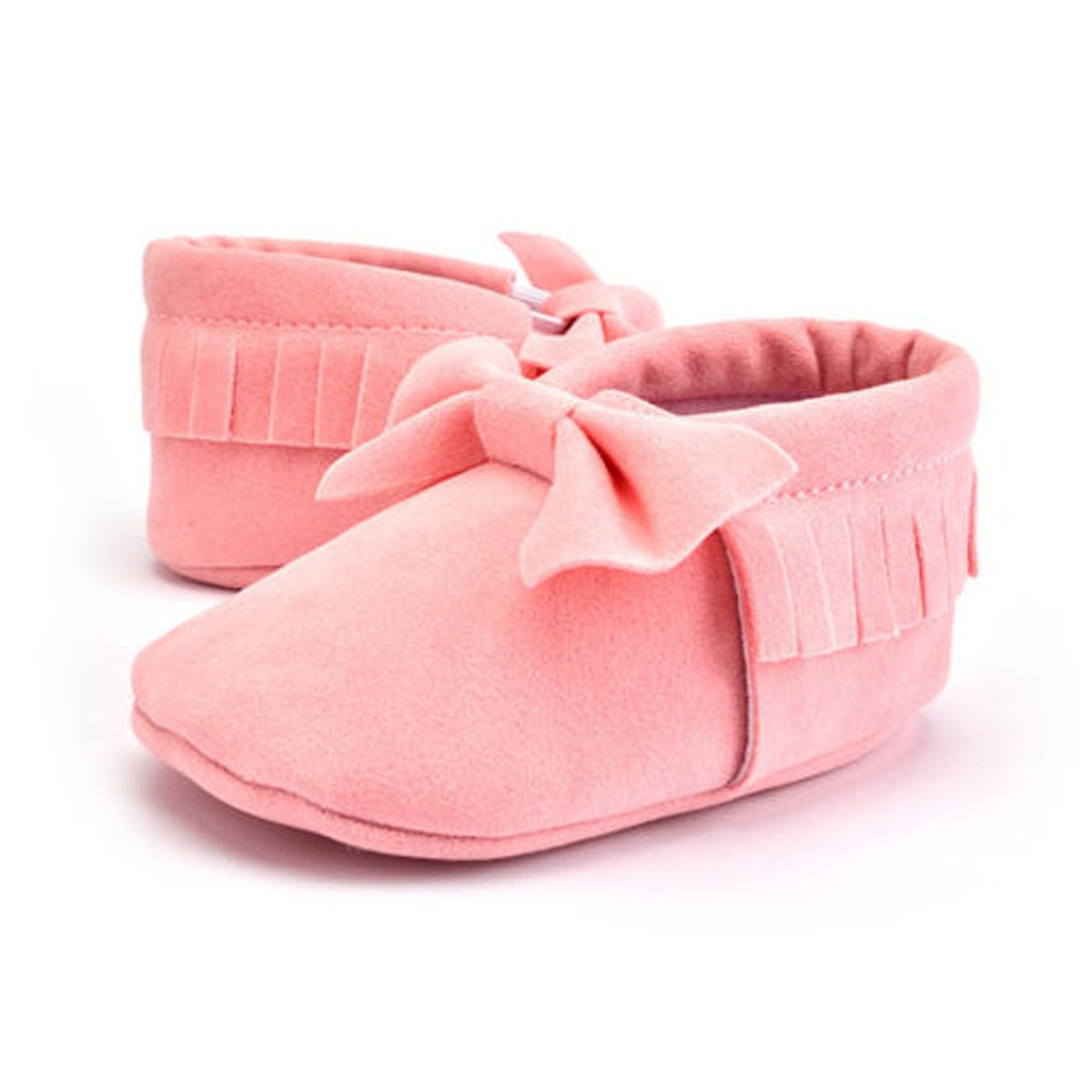 Newborn Girl First Soft Sole Toddler Baby Lace Frilly Bow Crib Shoes Pram 3-12M