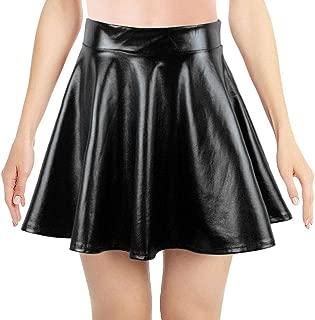 Simplicity Women's Metallic Ballet Dance Flared Skater Skirt Fancy Dress