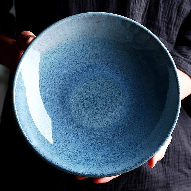 Bol en céramique plat de ménage de 9,65 pouces bol à pates occidental Bol de fruits salade soupe nouilles