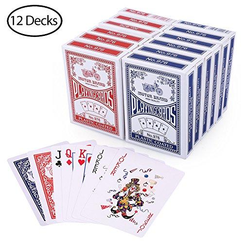 LotFancy 12 Decks Jeux de Carte 54 de Poker Playing Cards à