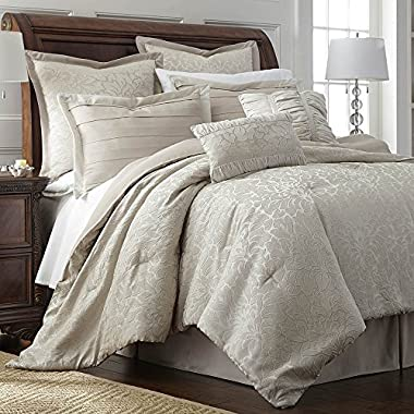 eLuxurySupply Samantha 8-Piece Queen Size Comforter Set-Hypoallergenic Down Alternative Fill-Bed in a Bag