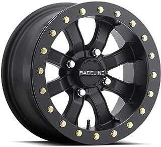 Raceline 14-19 Polaris RANRZR1000XE Mamba Blackout Beadlock Wheel (Front/Rear / 14X8 / 4/156 4+4)