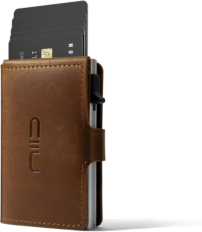NIID Credit Card Holder Slim Wallet Card RFID Men's Wallets Case Automatic Pop up Hold 8 Cards