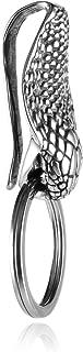 HZMAN Gothic Cobra Stainless Steel Keychain Tool Key Ring Belt Holder