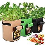 3 confezioni da 7 galloni di sacchetti in tessuto non tessuto da 26 l, la fioriera per patate è adatta per contenere sacchetti di patate, pomodori, carote, ecc.