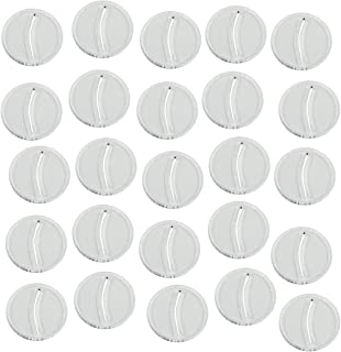 LITKO Paper Miniature Bases, 25mm Circle, 3mm Clear (25)