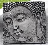 Mönch Bild Relief Wandbild hängend Steinguss Patiniert Feng-Shui 37 cm Steinfig.